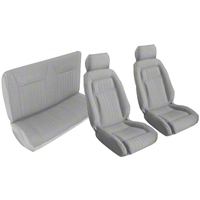 Titanium Gray Front & Rear Sport Seat Upholstery - Convertible (87-89 All)