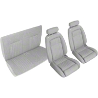 Titanium Gray Front & Rear Sport Seat Upholstery (90-91 Convertible) - AM Restoration 95024