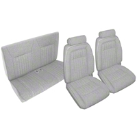 Titanium Gray Front & Rear Sport Seat Upholstery (92 Convertible) - AM Restoration 95026