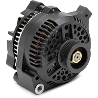 PAPerformance Alternator - 130 Amp Flat Black (87-93 5.0L) - PA Performance 1619FB