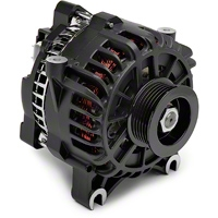 PAPerformance Alternator - 130 Amp Flat Black (05-08 GT) - PA Performance 2158WFB