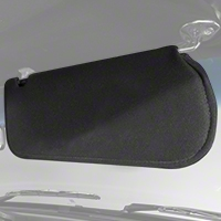 Cloth Sun Visors - Coupe/Hatchback - Black (83-93 All) - AM Restoration 069948SB1559