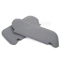 Cloth Sun Visors - Smoke Gray (87-89 Coupe/Hatchback) - AM Restoration 069948SB1853
