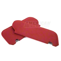 Cloth Sun Visors- Coupe/Hatchback - Scarlet Red (83-93 All) - AM Restoration 069948SB1872