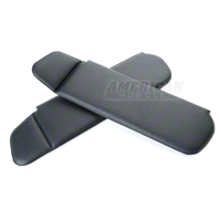 Vinyl Sun Visors - Convertible - Black (83-93 All) - AM Restoration 069955-001
