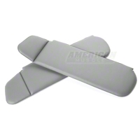 Vinyl Sun Visors - Convertible - Smoke Gray (83-93 All) - AM Restoration 069955-116