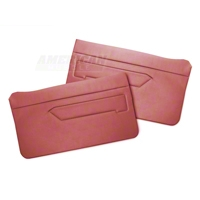 Replacement Door Panel Covers - Scarlet Red (83-93 All) - AM Restoration 070193-074SCARLETRED