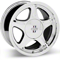 Chrome Pony R Wheel - 17x10 (87-93; Excludes 93 Cobra)