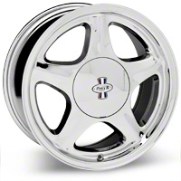 Chrome Pony R Wheel - 17x8 (87-93; Excludes 93 Cobra)