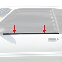 Door Reveal Molding Kit - Coupe/Hatchback (87-93 All)