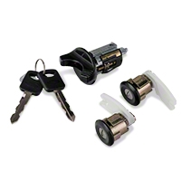 Ignition and Door Lock Set - Black (94-95 All) - AM Restoration PY1560