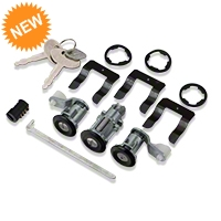 Lock Set - Black w/ Stainless Center (87-93 All) - AM Restoration PY1687S||PY1687S