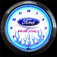 Ford Racing Neon Wall Clock - Neonetics 8FRACE