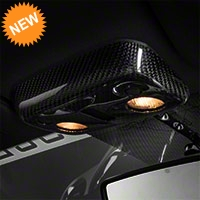 Carbon Fiber Map Light Cover - Convertible (13-14 All) - AM Interior TC10025-LG145
