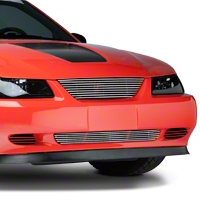Modern Billet Polished Pony Delete Billet Grille (99-04 GT, V6)