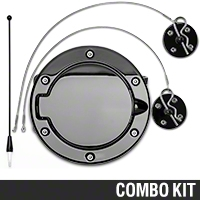 Exterior Blackout Kit (05-09 All) - AM Exterior 11055||HOO-01-BK||24035||SR-FUD-05-BK||99002||ANT-8-BK