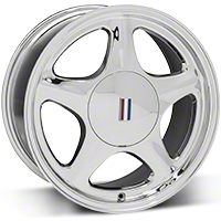 Chrome Pony Wheel - 5 Lug - 17x8 (87-93; Excludes 93 Cobra) - AmericanMuscle Wheels 99215