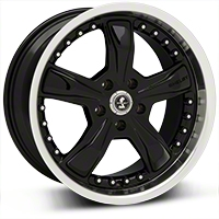 Black Shelby Razor Wheel - 18x9 (05-14 GT, V6) - Carroll Shelby Wheels SB198B8966A