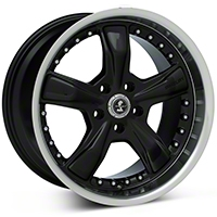 Black Shelby Razor Wheel - 18x10 (05-14 GT, V6)