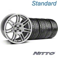 Anthracite 10th Anniversary Style Wheel & NITTO Tire Kit - 17x9 (87-93; Excludes 93 Cobra) - AmericanMuscle Wheels KIT||32019||76004