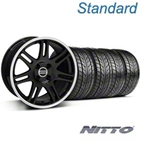 10th Anniversary Cobra Black Wheel & NITTO Tire Kit - 17x9 (87-93; Excludes 93 Cobra) - American Muscle Wheels KIT