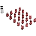 Red Acorn Lug Nuts - 3/4in (79-14 All) - AmericanMuscle Wheels 41188RD