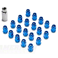 Blue Acorn Lug Nuts - 3/4in (79-14 All) - AmericanMuscle Wheels 41188BL