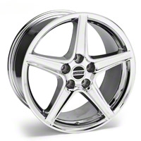 Chrome Saleen Style Wheel 19x8.5 (94-04 All) - AmericanMuscle Wheels 99261G94