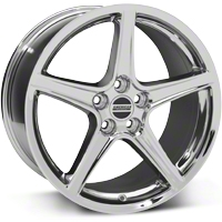 Saleen Style Chrome Wheel - 19x10 (05-14 GT, V6) - American Muscle Wheels 99262