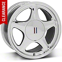 Chrome Pony Wheel - 5 Lug - 17x9 (87-93; Excludes 93 Cobra) - AmericanMuscle Wheels 99264