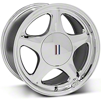 Chrome Pony Wheel - 5 Lug - 17x10 (87-93; Excludes 93 Cobra) - AmericanMuscle Wheels 99267