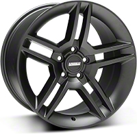 2010 GT500 Style Matte Black Wheel - 18x10 (05-14 All) - American Muscle Wheels R1-816545MB