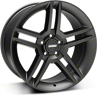 2010 GT500 Style Matte Black Wheel - 19x10 (05-14 All) - American Muscle Wheels R1-916548MB