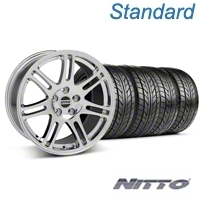 Chrome 10th Anniversary Style Wheel & Nitto Tire Kit - 18x9 (94-98 All) - AmericanMuscle Wheels KIT||28346G94||76002