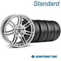 Chrome 10th Anniversary Style Wheel & Sumitomo Tire Kit - 18x9 (05-14 All) - AmericanMuscle Wheels KIT||29602||76009