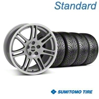 Anthracite 10th Anniversary Style Wheel & Sumitomo Tire Kit - 18x9 (05-14 All) - AmericanMuscle Wheels KIT||29604||63036