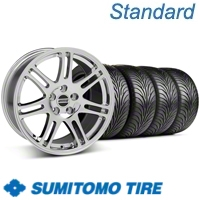 Chrome 10th Anniversary Style Wheel & Sumitomo Tire Kit - 17x9 (05-13 All)