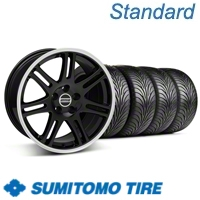 Black 10th Anniversary Style Wheel & Sumitomo Tire Kit - 17x9 (05-13 All) - American Muscle Wheels 29620||29621||63036||63037||KIT