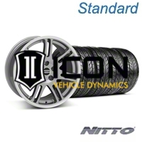 Anthracite 10th Anniversary Style Wheel & Nitto Tire Kit - 17x9 (05-14 All) - AmericanMuscle Wheels KIT||29600||29601||63102||76011