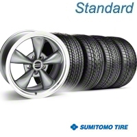 Anthracite Bullitt Wheel & Sumitomo Tire Kit - 17x8 (94-04) - AmericanMuscle Wheels KIT||28118||63004