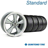 Bullitt Anthracite Wheel & Sumitomo Tire Kit - 17x8 (05-14 V6; 05-10 GT) - American Muscle Wheels KIT