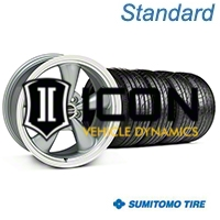 Anthracite Bullitt Wheel & Sumitomo Tire Kit - 17x8 (05-14) - AmericanMuscle Wheels KIT||28118||63028