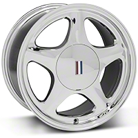 Chrome Pony Wheel - 17x9 (87-93; Excludes 93 Cobra) - AmericanMuscle Wheels 99382