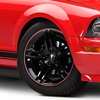 WheelBands Kit - Silver w/ Red Insert (79-14 All) - AmericanMuscle Wheels WB-RS-RD