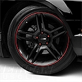 WheelBands Kit - Black w/ Red Insert (79-14 All) - AmericanMuscle Wheels WB-RB-RD