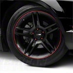 WheelBands Kit - Black w/ Red Insert (79-14 All) - American Muscle Wheels WB-RB-RD