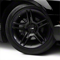 WheelBands Kit - Black w/ Royal Blue Insert (79-14 All) - AmericanMuscle Wheels WB-RB-BU
