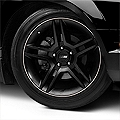 WheelBands Kit - Black w/ White Insert (79-14 All) - AmericanMuscle Wheels WB-RB-WHT