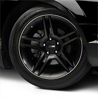 WheelBands Kit - Black w/ White Insert (79-14 All) - American Muscle Wheels WB-RB-WHT