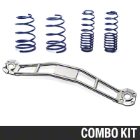 SR Performance Strut Tower Brace & Lowering Spring Kit - Chrome (05-14 GT, V6) - SR Performance 41111||53151